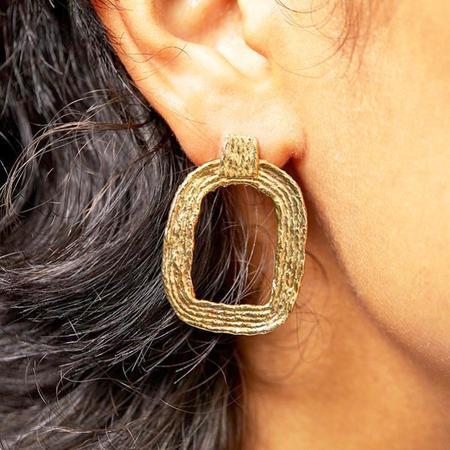 COG EVA EARRINGS - 14k Gold Plated