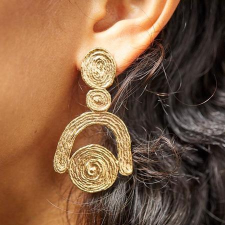 COG FRIDA EARRINGS - 14k Gold Plated