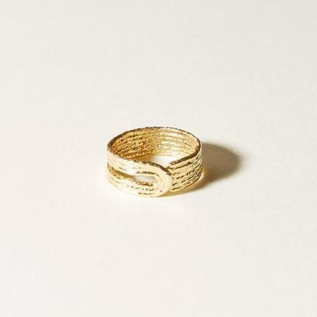 COG HEELING RING - 14k Gold Plated