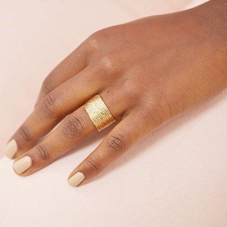 COG HORIZON RING - 14k Gold Plated