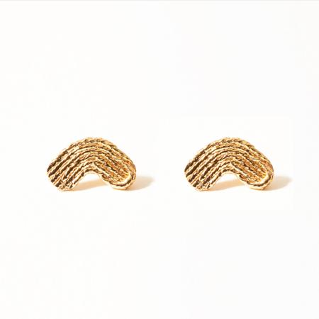 COG MAYA ARC EARRINGS - 14k Gold Plated