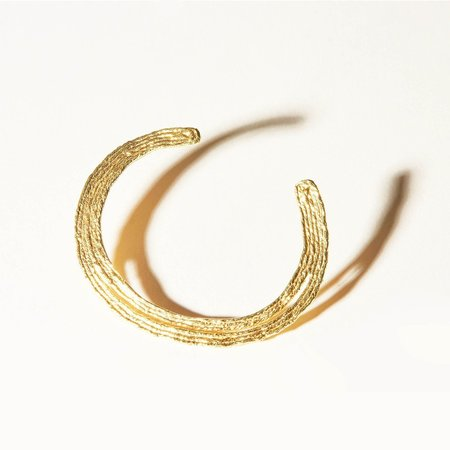 COG VIJA SOLO CUFF - 14k Gold Plated