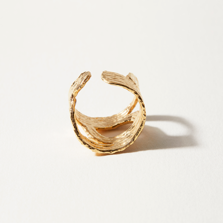 COG WAVES RING - 14k Gold Plated