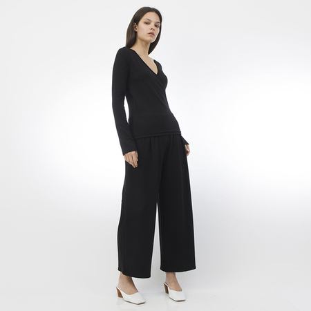 Corinne Erika pleat pant - black