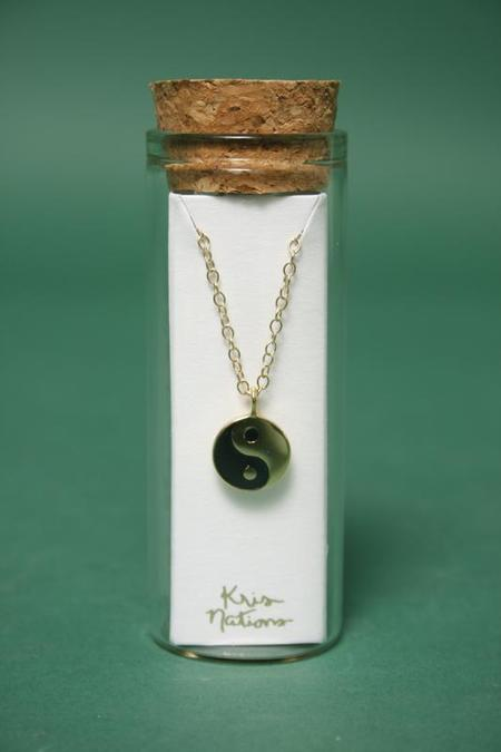 Kris Nations Yin And Yang Charm Necklace - Gold