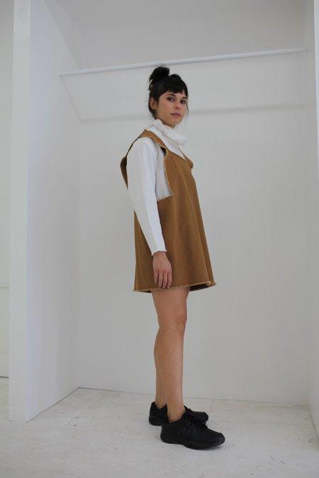 Ashley Rowe Square Dress - Tan
