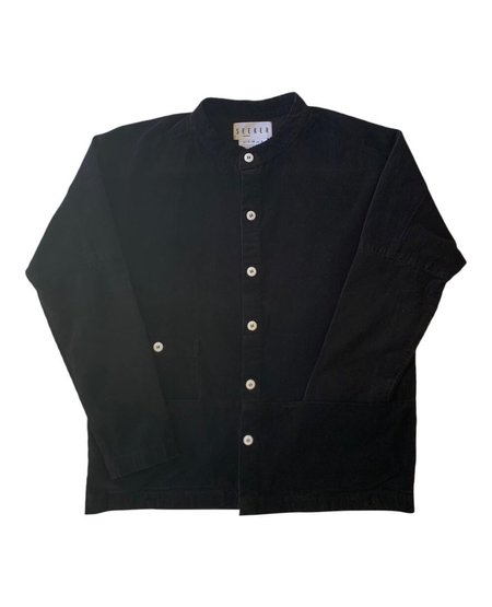 unisex SEEKER Raj Coat - Black Corduroy