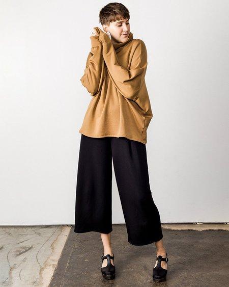 Corinne Ricci High-Neck Tunic - Camel
