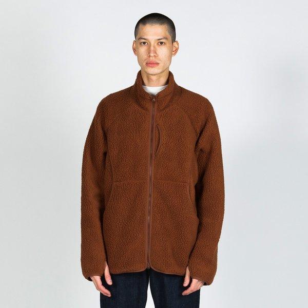Snow Peak Classic Fleece Jacket Orange on Garmentory