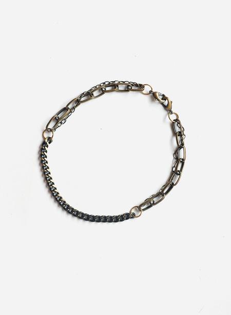 Gran Sans Triple Chain Necklace - Brass