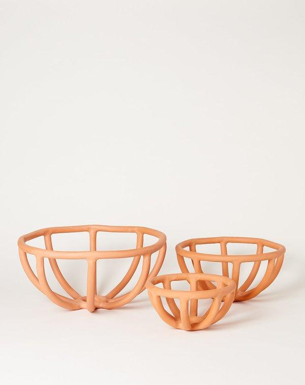 Sin Medium Prong Bowl - Terracotta
