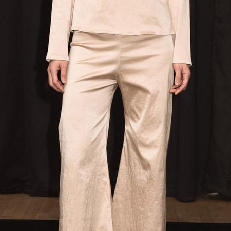 Baserange Toteki Stretch Silk Pants - Gravel Beige