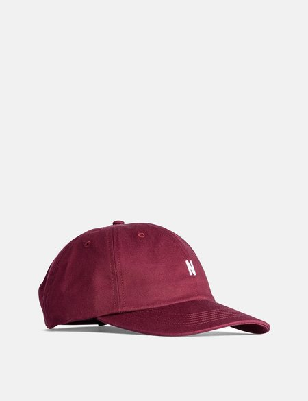 Norse Projects Twill Sports Cap - Mulberry Red