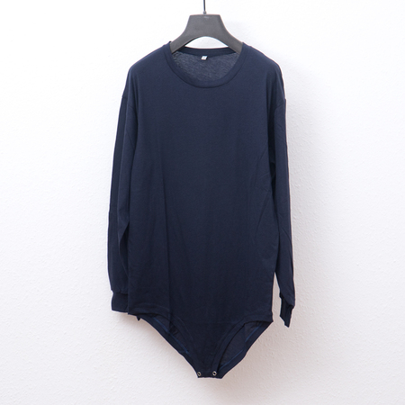 Baserange Michael Cotton Silk Tee Body - Navy