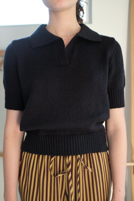 Beklina Knit Polo - Licorice