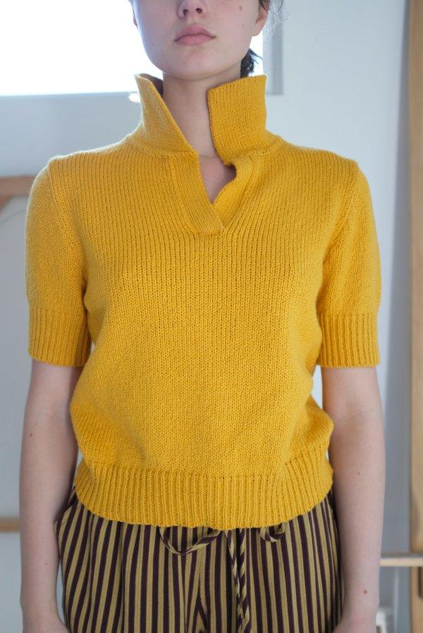 Beklina Knit Polo - Turmeric