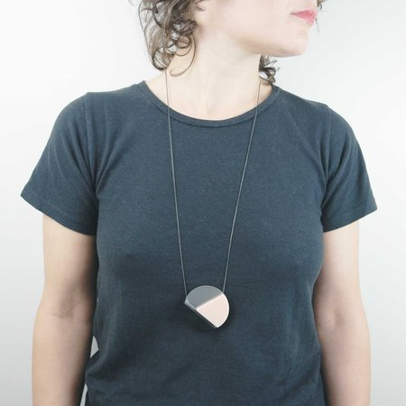 Bird of Virtue Margritte Necklace - Blush Sterling Silver