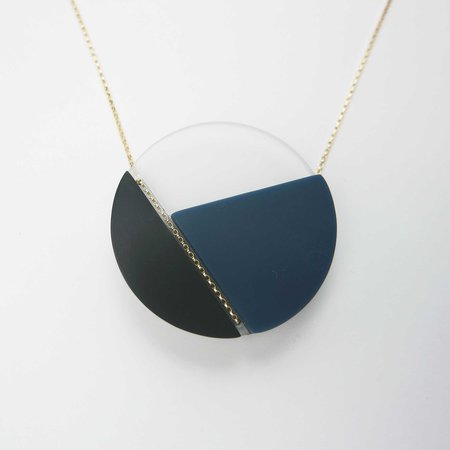 Bird of Virtue Margritte Necklace - Sea Blue Goldfill