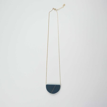 Bird of Virtue Sofie Necklace - Sea Blue Goldfill
