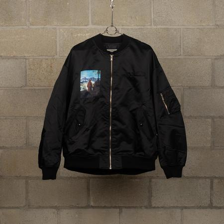 JohnUNDERCOVER Graphic Printed MA-1 Jacket - Black