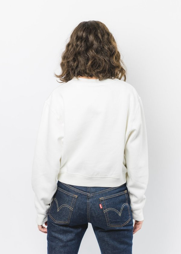 Levi's Made & Crafted MOCK NECK SWEATSHIRT - WHITE