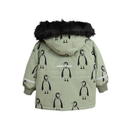 Kids Mini Rodini K2 Penguin Parka - Green