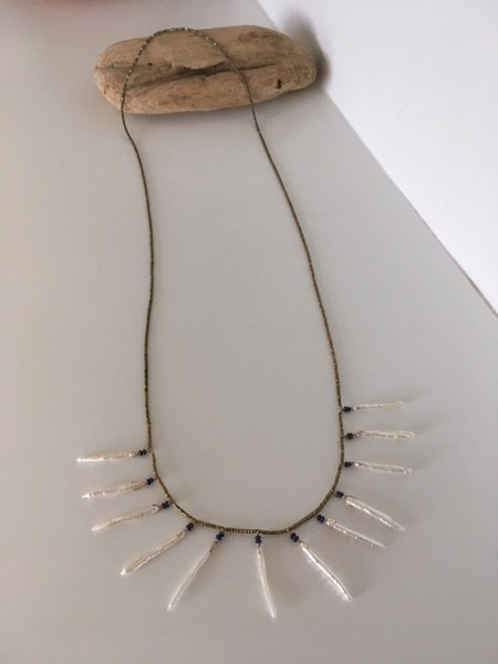 See Real Flowes Pearl Sun Necklace