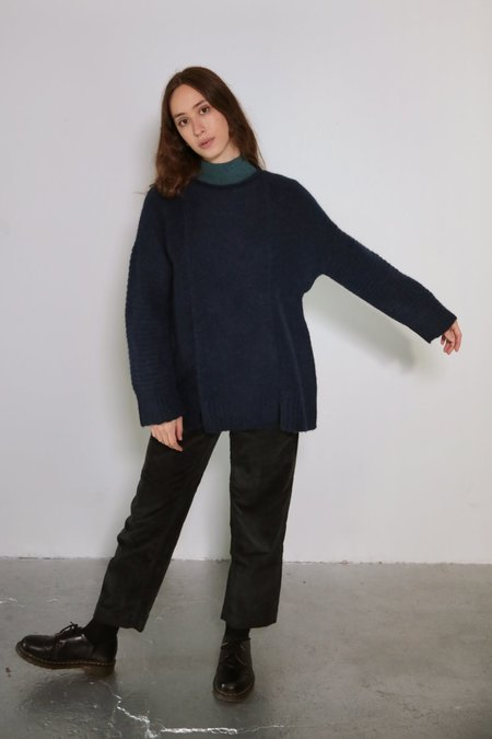 Daēza Long Panel Sweater - Lapis