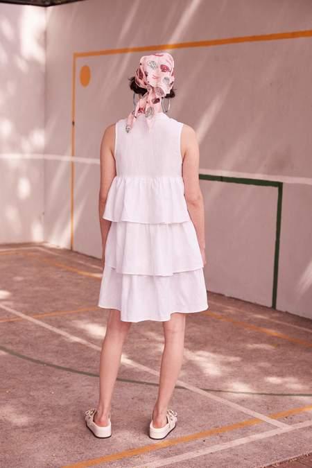 hej hej The Mala Mix Dress - White
