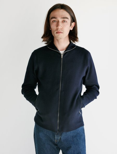Norse Projects Fjord Tech Cardigan - Navy