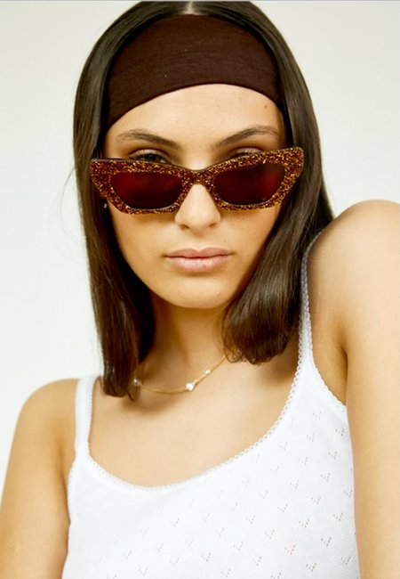 Mars Lotte Sunglasses - brown glitter