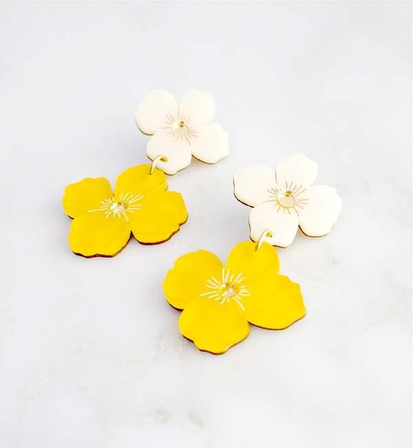 Matter Matters Gallery Poppy Earrings - Yellow