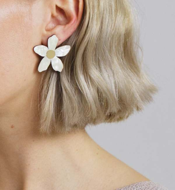 Matter Matters Gallery Orange Blossom Earrings - Pearl