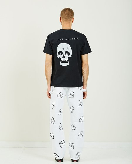 For Those Who Sin BONE TURNS BRITTLE TEE - BLACK