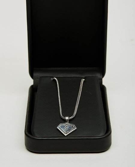For Those Who Sin BROKEN HEART CHARM NECKLACE - SILVER