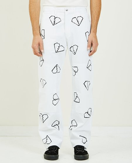 For Those Who Sin HEARTBREAKERS PAINTER PANT - WHITE