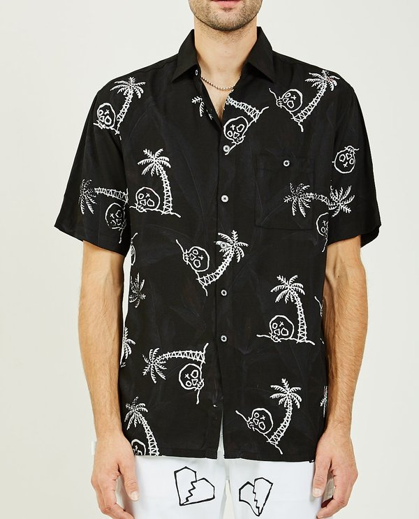 For Those Who Sin LOST PARADISE HAWAIIAN SHIRT - BLACK