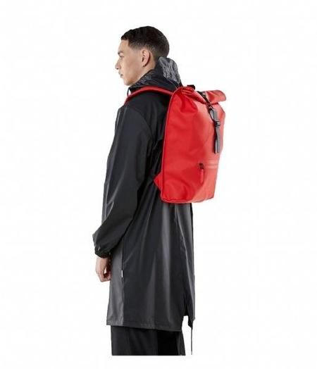 Rains Roll Top Rucksack - Red