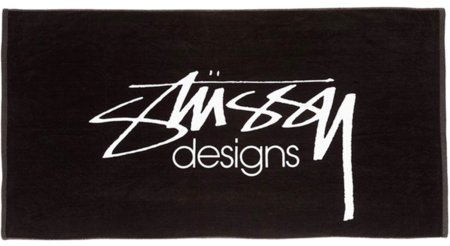 STUSSY DESIGNS LOGO TOWEL - BLACK