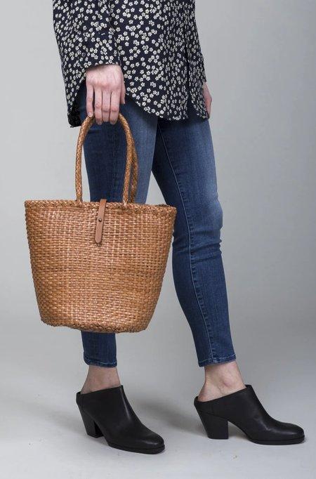 Dragon Diffusion Weave Bucket Bag - Tan