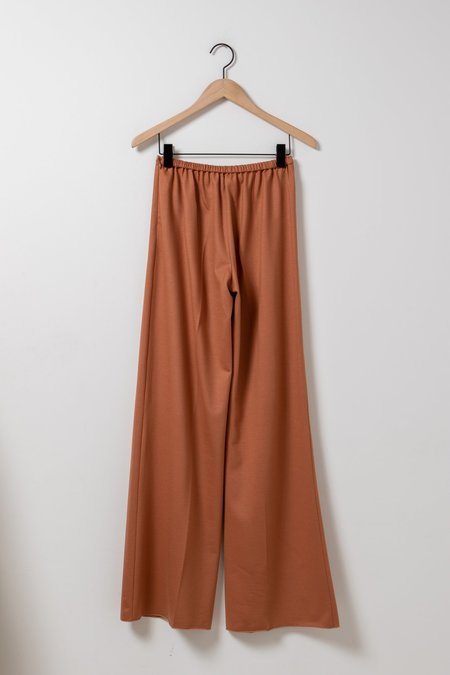 Forte Forte Chic Flannel High-Waisted Pant - caramel