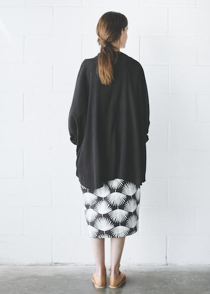 Black Crane Square Shirt in Black