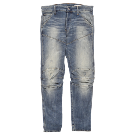 G-Star RAW 5620 3D Slim Jeans - Antic Faded Ripped Marine
