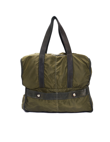 Guidi Nylon & Leather Transformer Bag - Green