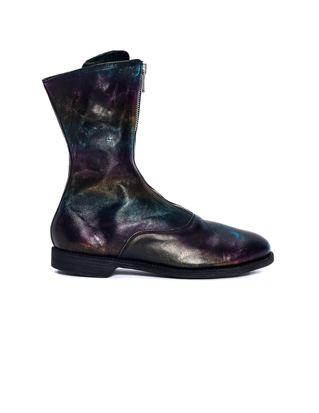 Guidi Rainbow Leather Zip Boots - Multicolor