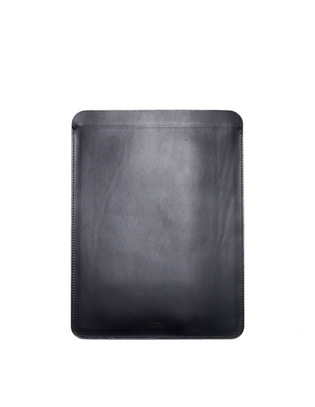 Isaac Reina Leather Computer Case - Black