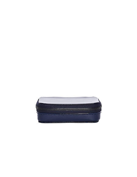 Isaac Reina Patent Leather Small Jewelry Box - Navy Blue