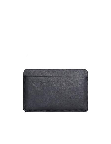 Isaac Reina Leather Passport & Card Holder - Black