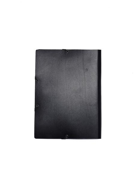 Isaac Reina Leather A4 Folder - Black