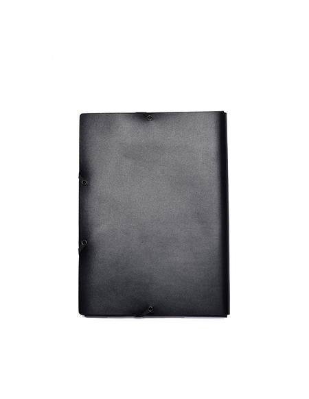 Isaac Reina Leather A4 Documents Folder - Black
